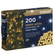 Eveready Ultra Bright LED Chaser Lights 200pk - Warm White