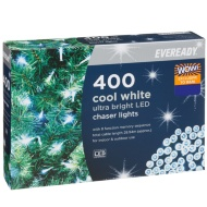 Eveready Ultra Bright LED Chaser Lights 400pk - Cool White