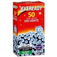 Eveready 50 LED Lights - Cool White