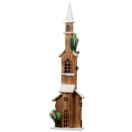Light Up Tall Wooden Steeple