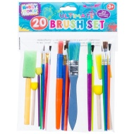 Hobby World Kids Paint Brush Set 20pc