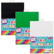 Hobby World A4 Coloured Card 40pk