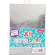 Hobby World A4 Card 20pk - Silver