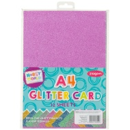 Hobby World A4 Glitter Card 12pk