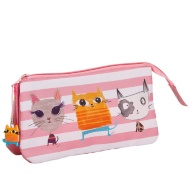 Two Pocket Pencil Case - Cat