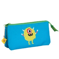 Two Pocket Pencil Case - Monsters