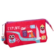 Two Pocket Pencil Case - Owl