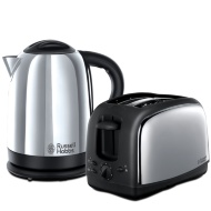 Russell Hobbs Twin Pack - Polished Kettle & 2 Slice Toaster