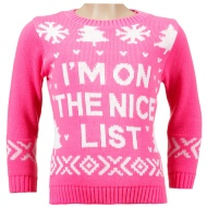 Girls Christmas Jumper - I'm On The Nice List