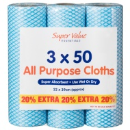 All Purpose Cleaning Cloths 3 x 50pk