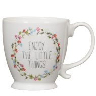 Enjoy the Little Things Footed Mug