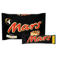 Mars Chocolate Bar 4 x 39.4g Pack