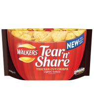 Walkers Tear 'n Share Lightly Salted Crisps 150g