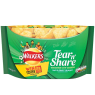 Walkers Tear 'n Share Salt & Malt Vinegar Crisps 150g