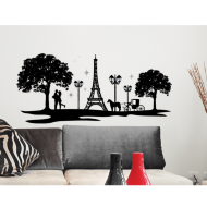 Jewelled Silhouette Wall Sticker - Paris