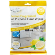 All Purpose Floor Wipes 25pk - Lemon