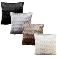 Elissa Embossed Mink Faux Fur Cushion Cover 2pk