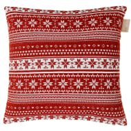 Luxury Chenille Oversized Cushion - Red Nordic