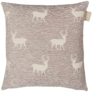 Luxury Chenille Oversized Cushion - Charcoal Stag