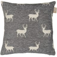 Luxury Chenille Oversized Cushion - Natural Stag
