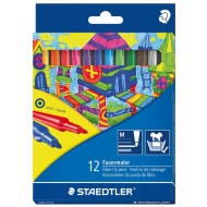 Staedtler Fibre-tip Coloured Pens 12pk