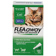 RSPCA FLEAaway Cat Flea Treatment 3 x 50mg