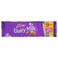 Cadbury Dairy Milk Bars 9pk