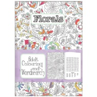 Adult Colouring & Wordsearch Book - Florals