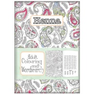 Adult Colouring & Wordsearch Book - Henna