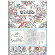 Adult Colouring & Wordsearch Book - Morifs