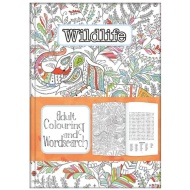 Adult Colouring & Wordsearch Book - Wildlife
