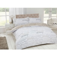 Script Luxury Duvet Set King Size