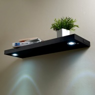 LED Shelf 80cm - Black