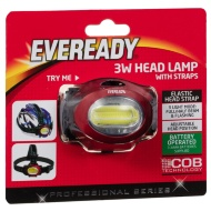 Eveready 3W Head Lamp with Straps