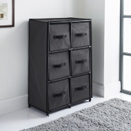 Canvas 6 Drawer Unit - Grey
