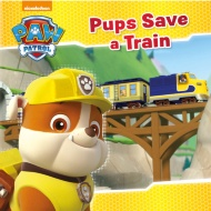Paw Patrol Story Book - Pups Save a Train