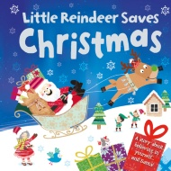 Mini Board Book - Little Reindeer Saves Christmas