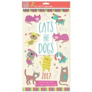 Midi Family Planner & Calendar 2017 - Cats & Dogs