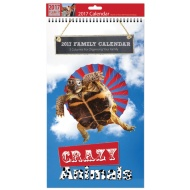 Midi Family Planner & Calendar 2017 - Crazy Animals
