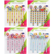 Pencil & Eraser Toppers 8pk