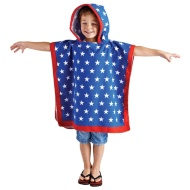 Hooded Poncho - Blue Star