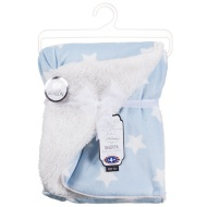 Printed Baby Sherpa Blanket - Blue Star