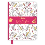Adult Colouring Diary 2017 - Exotic Kingdom