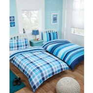 Boys Single Duvet Set Twin Pack - Isaac Check