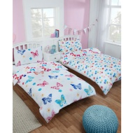 Girls Single Duvet Set Twin Pack - Butterfly
