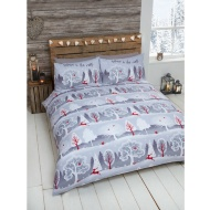 Leaping Stag Brushed Cotton Duvet Set Double
