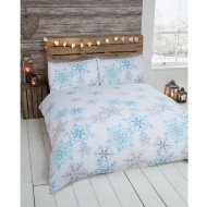 Snowflake Brushed Cotton Duvet Set King Size