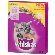 Whiskas Kitten Tasty Filled Pockets - Chicken 825g