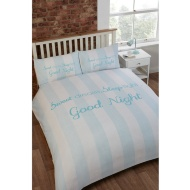 Victoria Slogan Double Duvet Set