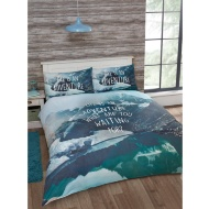 Slogan Scene King Size Duvet Set - Life is an Adventure